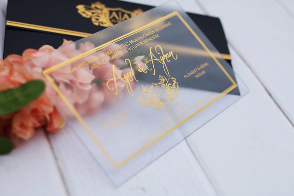 Main Product image - Clear Wedding Invitations, Acrylic Wedding Invitations, Unique Wedding Invitations, My Lovely Store, Handmade Wedding Invitations