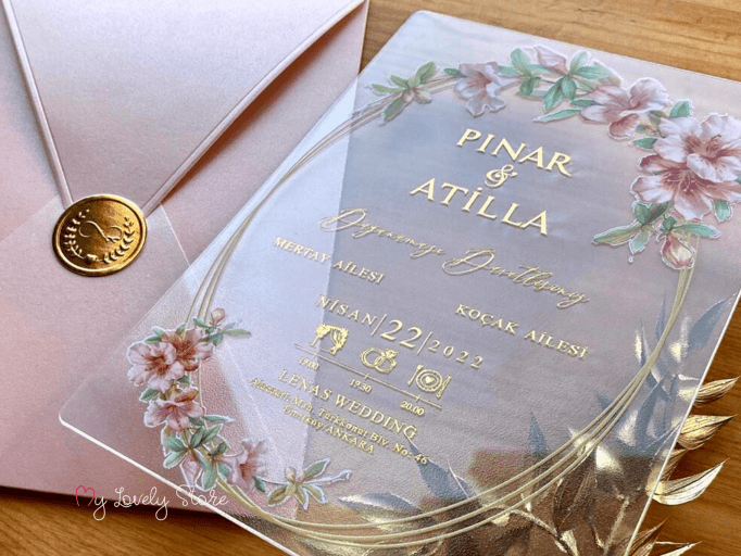 Floral Clear Invitations
