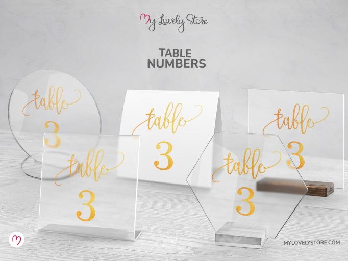 Unique Acrylic Table Numbers