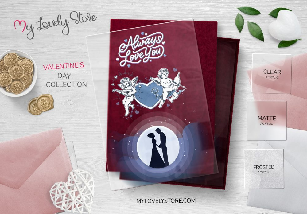 Full Moon Romantic Valentine's Day Cards