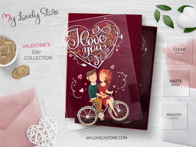 I love You - Cycling Couple Unique Valentines Day Cards
