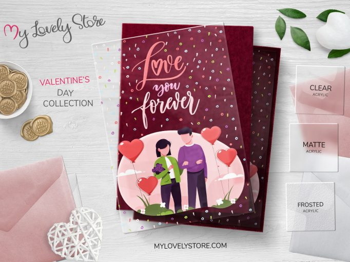 Love You Forever Acrylic Valentine's Day Cards