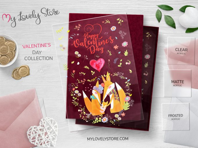 Lovely Fox Unique Valentines Day Cards